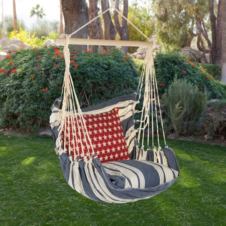 Magnolia casual americana hammock chair pillow set - Choosing a hammock chair for your backyard ...