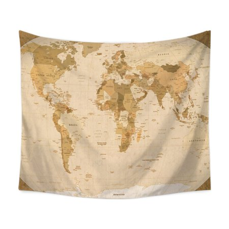 Funcee Home World Map Tapestry, Abstract Painting Starry Map Wall Hanging Tapestries