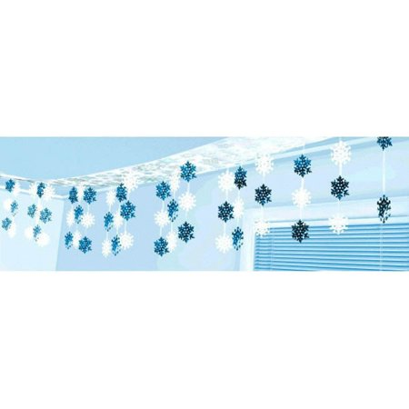Snowflakes To Hang From Ceiling (Let It Snow Plastic & Foil Hanging Ceiling Decoration)