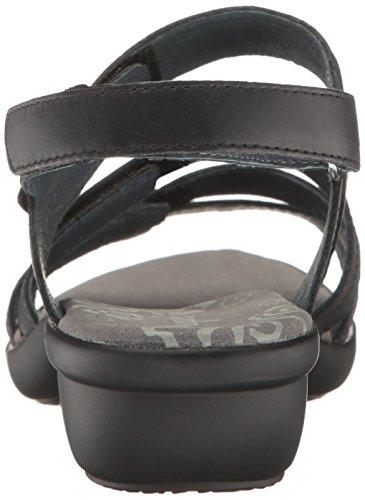 Propet Aurora - Women's Leather Adjustable Sandals - Black