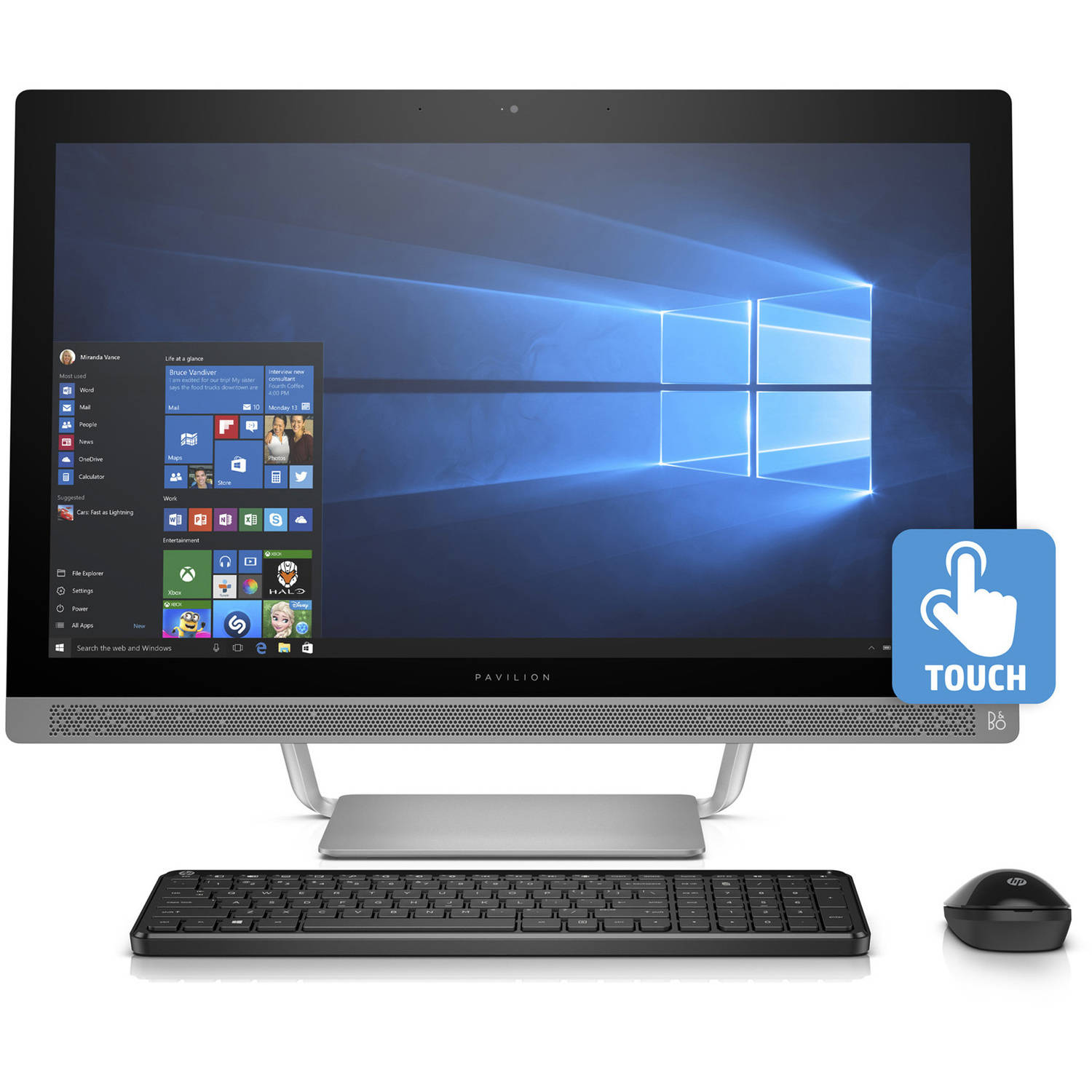 "HP Pavilion 27-a230 All-in-One Desktop PC with Intel Core i5-7400T Processor, 12GB Memory, 27""... by HP"