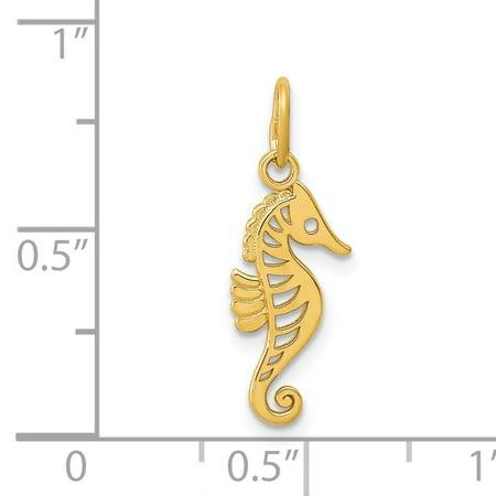14K Yellow Gold Gold Polished Seahorse Pendant - image 1 of 2