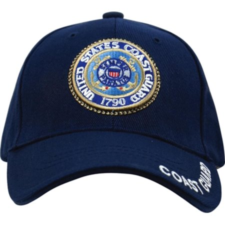 Navy Blue Deluxe Embroidered U.S. Coast Guard (Navy Blue Fatigue Cap)