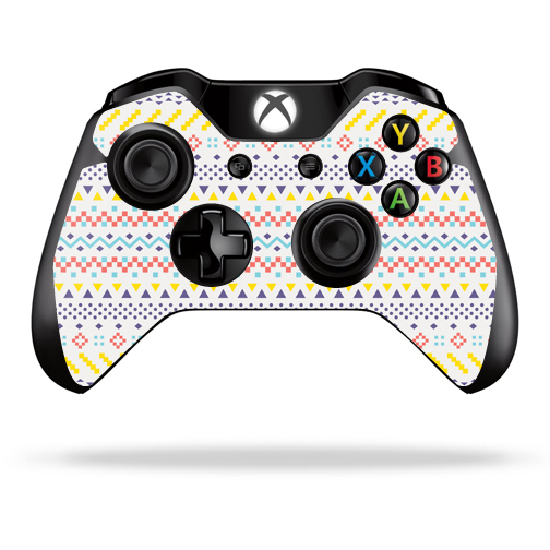 Mightyskins Protective Vinyl Skin Decal Cover for Microsoft Xbox One/ One S Controller wrap sticker skins Aztec Line