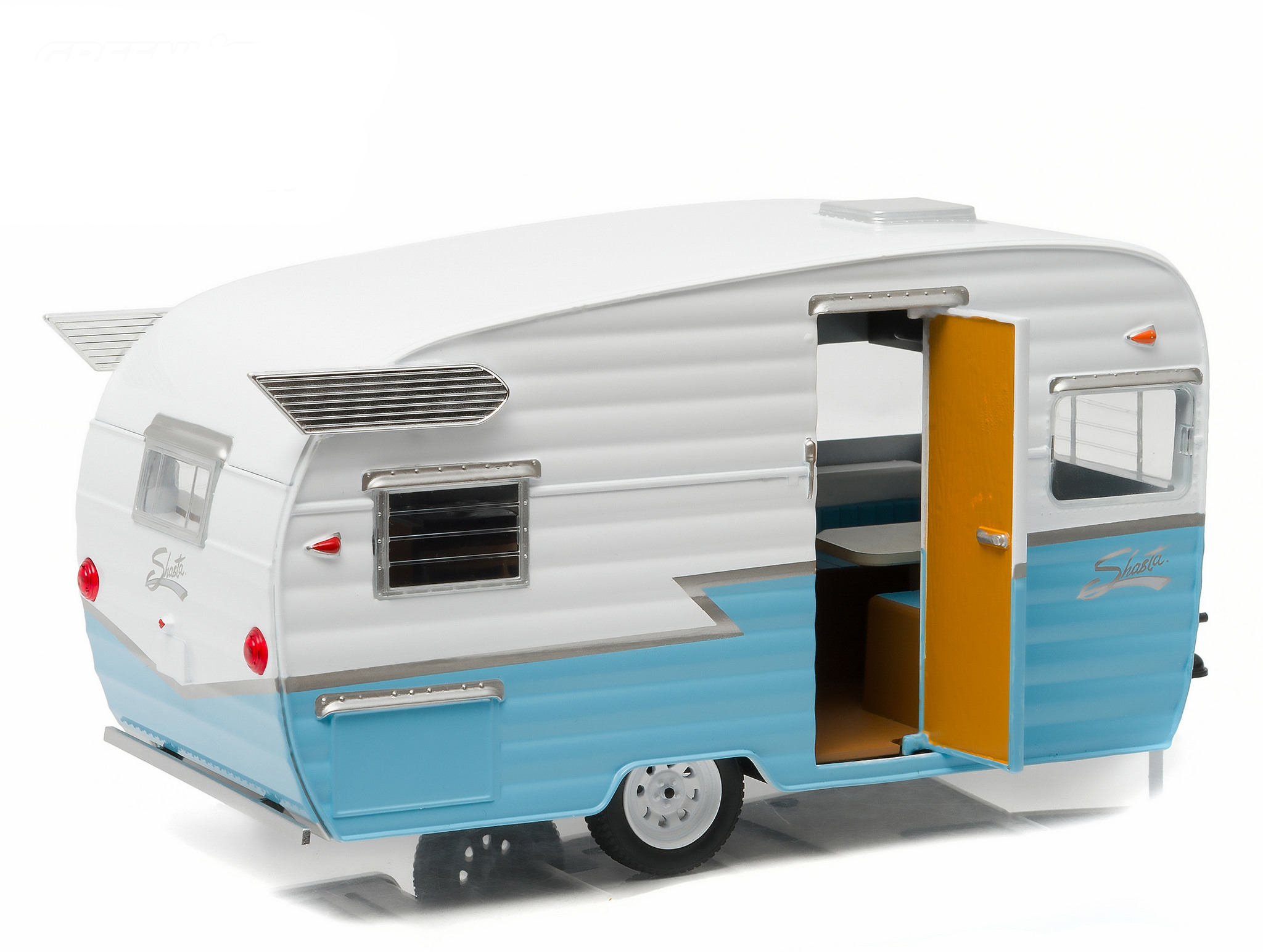 Shasta Airflyte 15' Camper Trailer Blue for 1/24 Scale Model Cars and  Trucks 1/24 Diecast Model by Greenlight