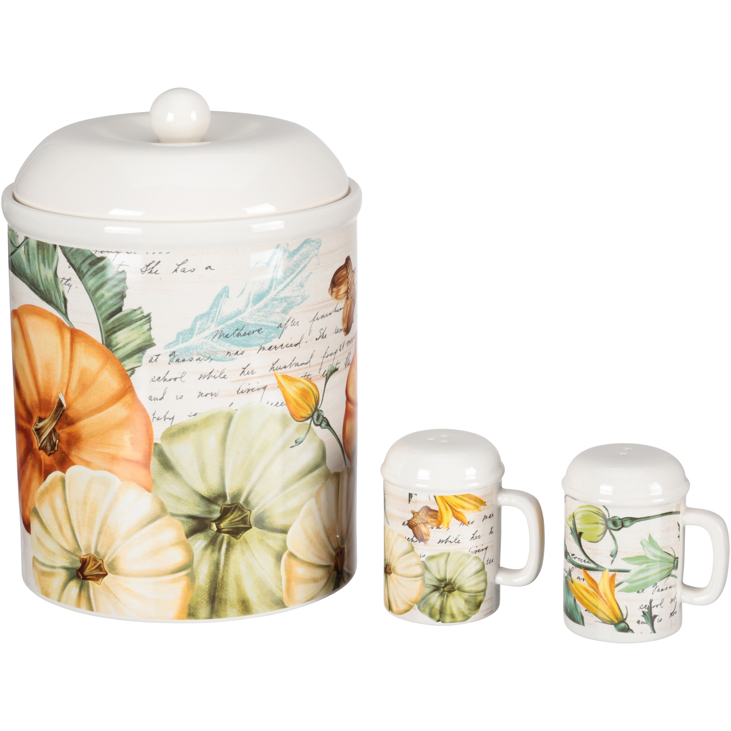 Mainstays Earthenware Cookie Jar S&P 3 pc Set Box by Wal-Mart Stores, Inc.