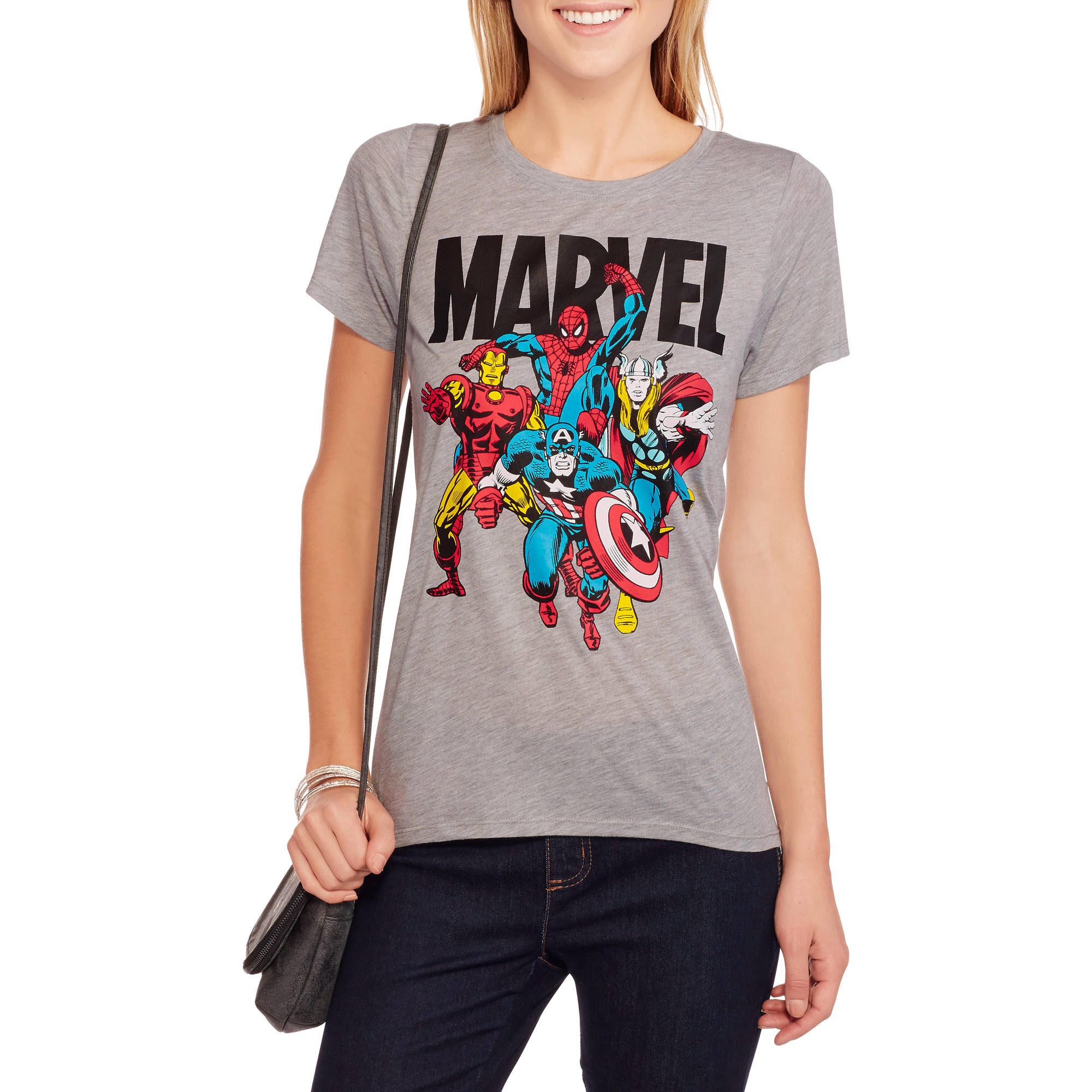 Marvel Juniors Graphic HiLo Tee