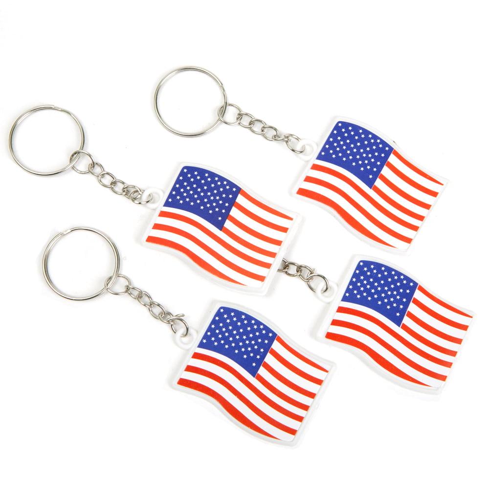USA Flag Keyring