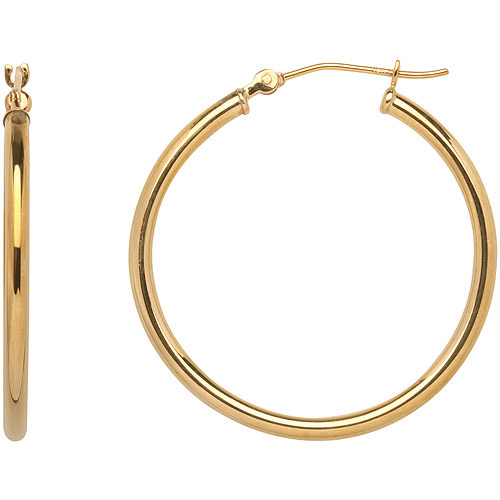 Simply Gold 10kt Yellow Gold Polished Hoop Earrings