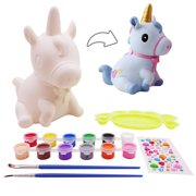 veZve Craft Kit Paint Toy for Kids 4 to 8 Years Old Girls DIY Money Bank, Unicorn Figure
