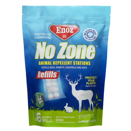 Enoz No Zone Animal Repellent Station Refills 6 Ct