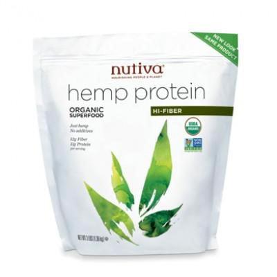 Hemp Protein Fiber - Nutiva Bulk Organic Hemp Protein & Fiber Powder, 3 Pound Bag