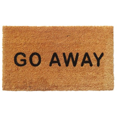 Aspire Linens 39 Go Away 39 Natural Doormat