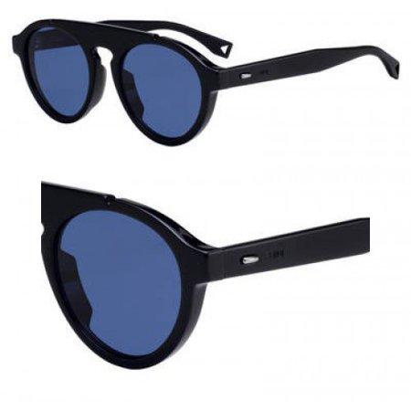 Sunglasses Fendi Men Ff M 13 /S 0807 Black / KU blue avio lens