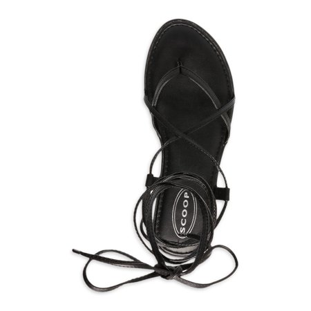 Scoop Women's Zoey Lace Up Thong Sandals