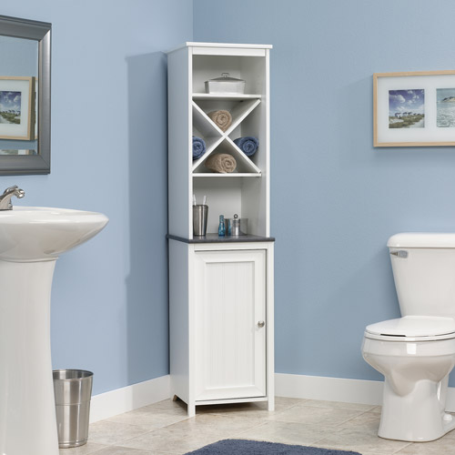 Sauder Caraway Linen Tower in Soft White - Walmart.com