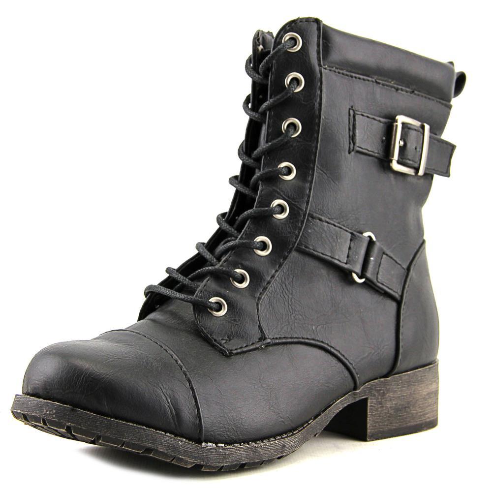 Jellypop Len Women  Round Toe Synthetic Black Combat Boot