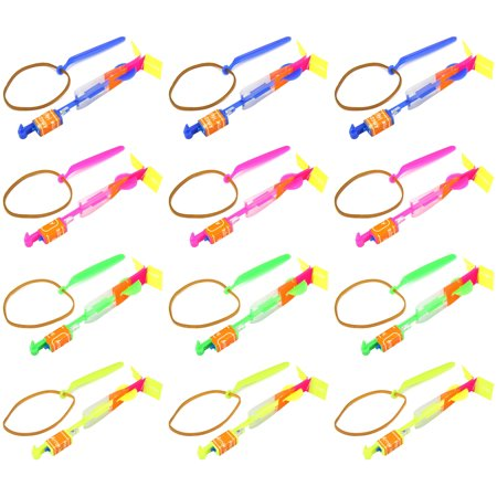 Set of 12 VT LED Light Up Sling Shot Flare Arrow Party Favor Toy Flyers
