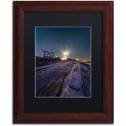 "Trademark Fine Art ""Pemaquid Stars"" Canvas Art by Michael Blanchette Photography Black Matte, Wood Frame"