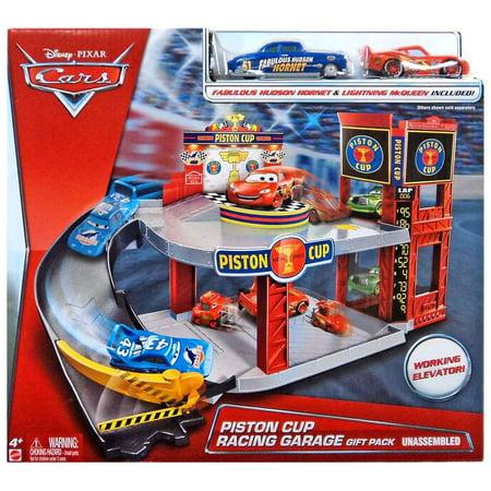 Disney Cars Piston Cup Racing Garage Playset Includes