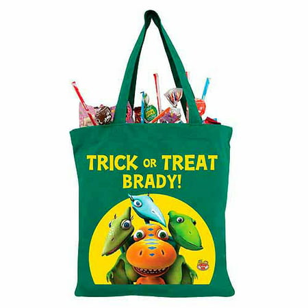 Train Heavy Bag (Personalized Dinosaur Train Buddy, Tiny, Shiny and Don Green Trick-or-Treat)