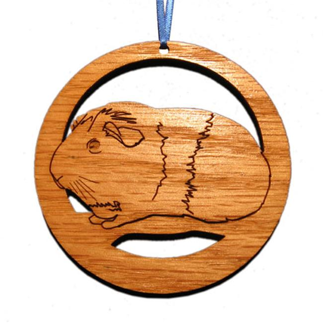 CAMIC designs SMA002N Laser-Etched American Guinea Pig Ornaments - Set of 6