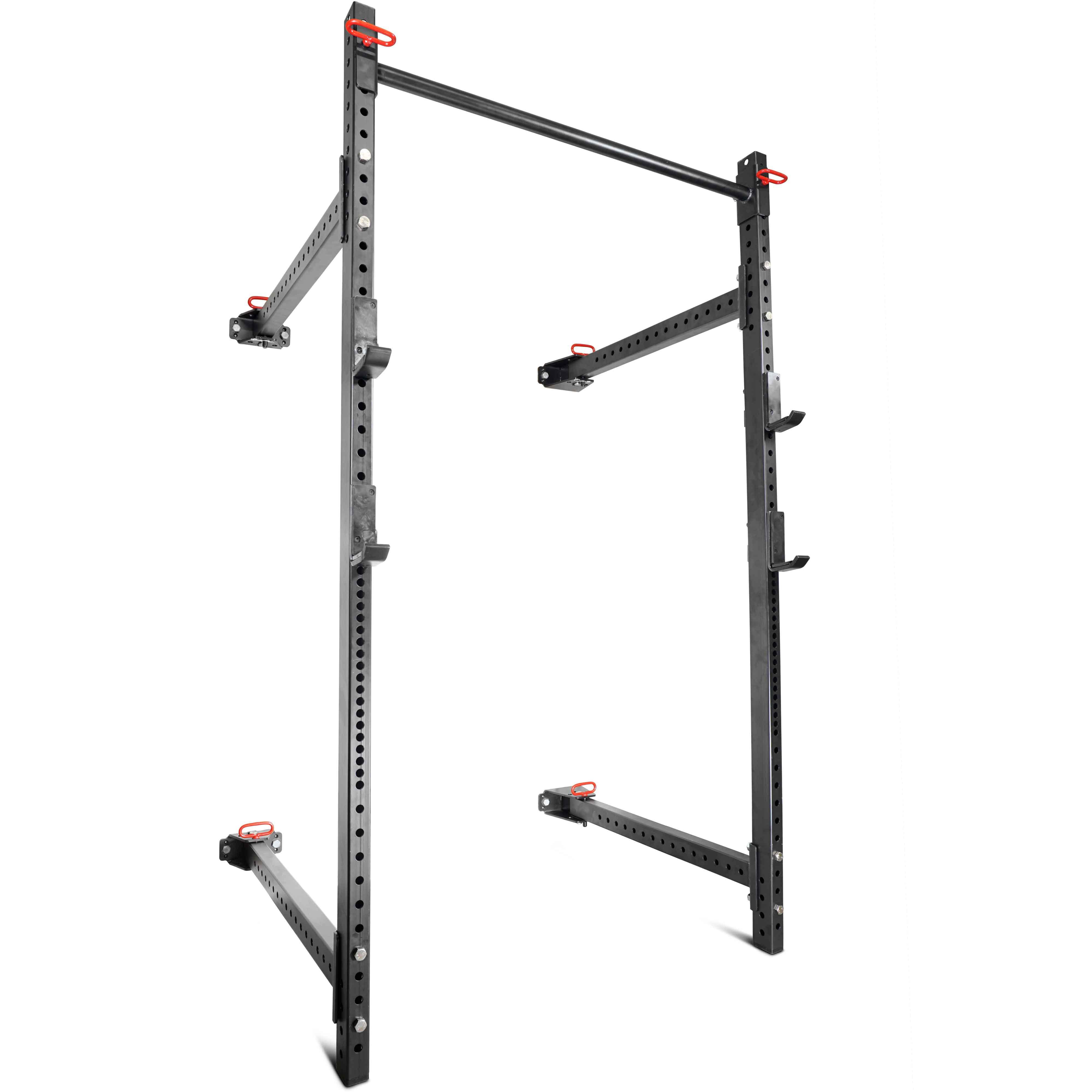 "Titan Fitness T-3 Series Fold Back Power Rack 41"" Deep Wall Mounted Laser Cut by Titan Fitness"