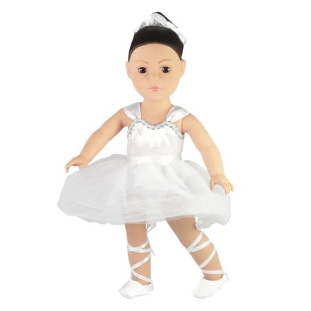 """Prima Ballerina/Ballet Outfit - 18 Inch Doll Clothes/clothing Fits American Girl Dolls - Includes 18"""" Accessories"""