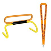 Champion Sports Bundle: (Set of 2) Speed Hurdle Riser Yellow with 1 Performall Lanyard PHEX-2P