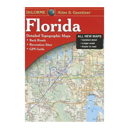 Southeast Florida Maps - Delorme florida atlas & gazetteer : [detailed topographic maps: back roads, recreation sites, gps gr: 9780899333991