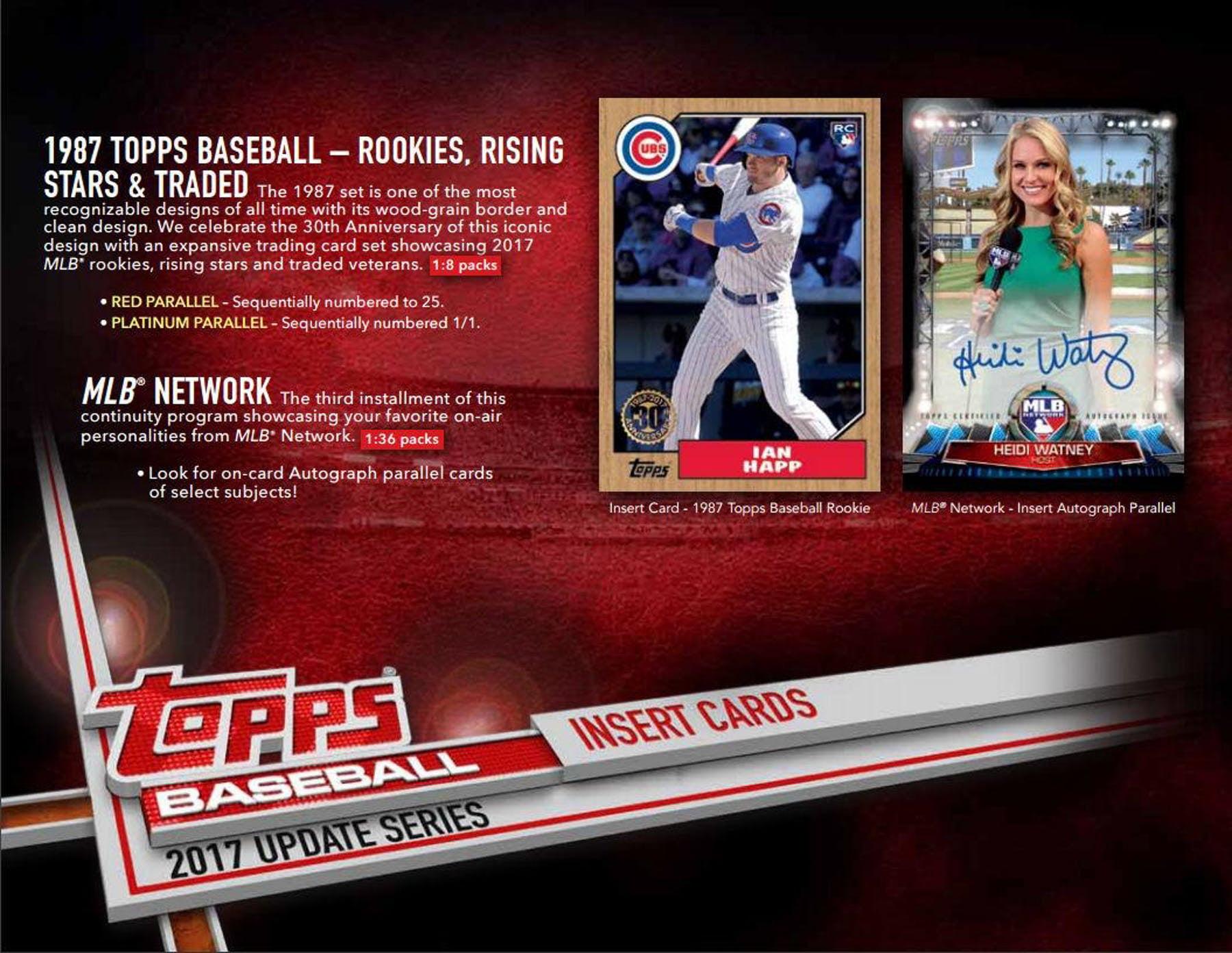 2017 Topps Baseball Update Series Booster Box