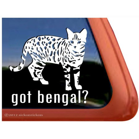 Got Bengal? | High Quality Vinyl Bengal Cat Window Decal ()