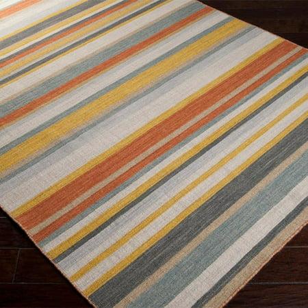 surya calvin golden yellow misty white striped area rug. Black Bedroom Furniture Sets. Home Design Ideas
