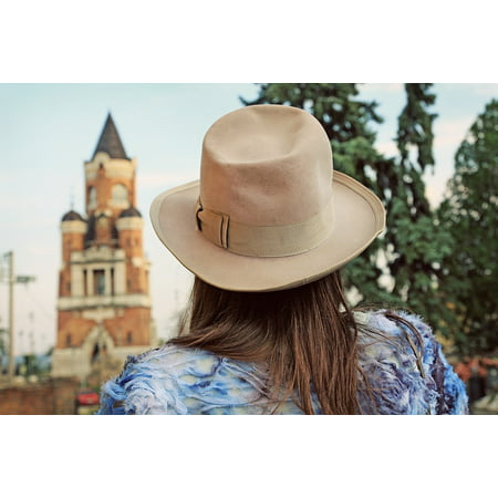 Canvas Print Zemun Heritage Hat Belgrade Urban Girl Silhouette Stretched Canvas 10 x 14 (Heritage Crafts Silhouettes)