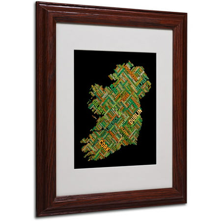 "Trademark Fine Art ""Ireland IV"" Matted Framed Art by Michael Tompsett, Wood Frame"