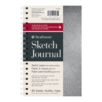 Strathmore Metallic Sketch Journal, 200 Series, 5.5in x 8.5in, Silver