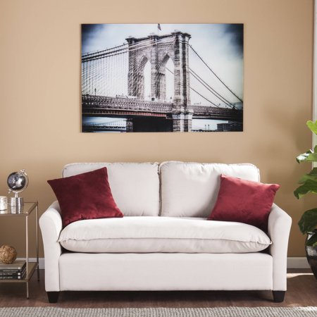 Southern Enterprises Frameless Brooklyn Bridge Glass Wall Art