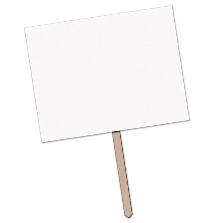 Pack of 6 Blank for Personalization Party Yard Sign with Wooden Stake 24
