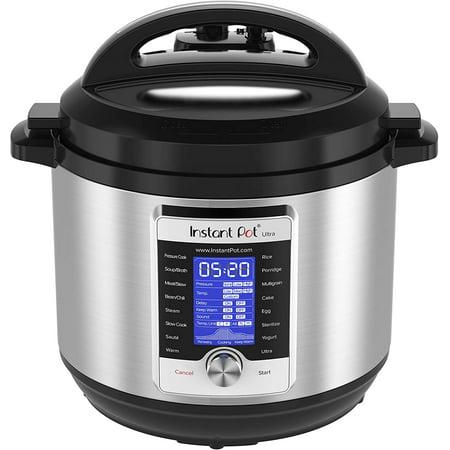Samsung Instant Pot Ultra 10-in-1 Electric Pressure Cooker, Slow Cooker, Rice Cooker, Steamer, Saute, Yogurt Maker, Cake Maker, Egg Cooker, Sterilizer, and Warmer, 8 Quart, 16 One-Touch Programs