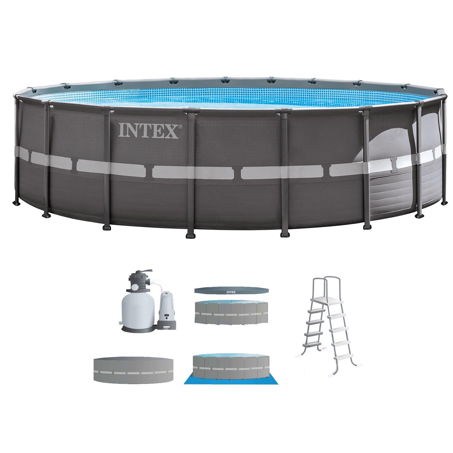 "Intex 18' x 52"" Ultra Frame Above Ground Swimming Pool Set with Sand Filter Pump by Intex"