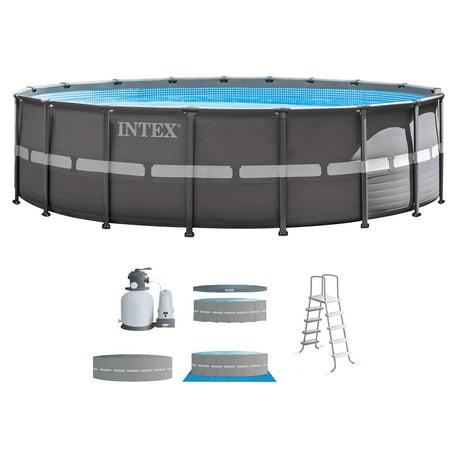 Intex 18 39 x 52 ultra frame above ground swimming pool set - Intex 18 x 9 x 52 ultra frame swimming pool ...