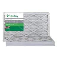 AFB Silver MERV 8 16x20x1 Pleated AC Furnace Air Filter. Pack of 4 Filters. 100% produced in the USA.