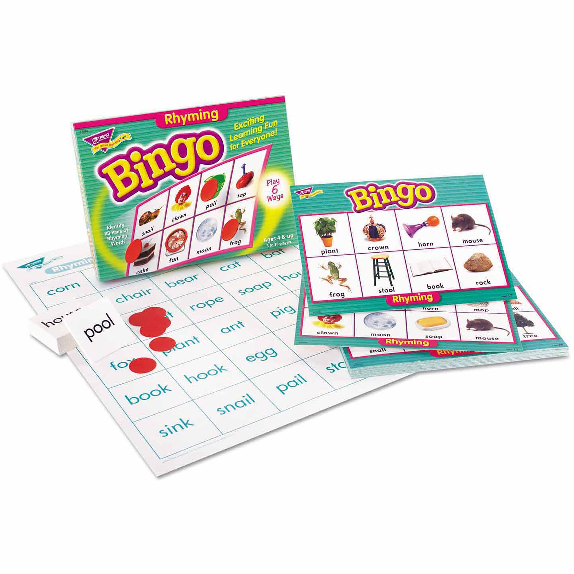 TREND Young Learner Bingo Game, Rhyming Words