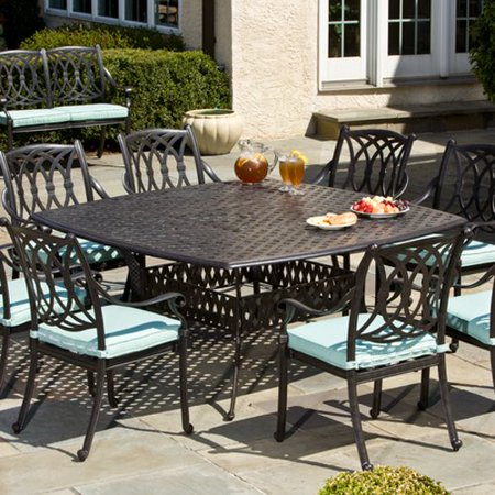 Alfresco Home Patio Furniture.Alfresco Home Weave 64 In Square Weave Boat Dining Table
