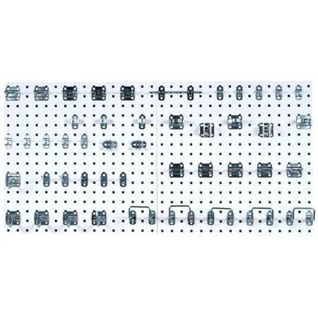 LOCBOARD LB1-Kit Pegboard Kit,White,Square,24