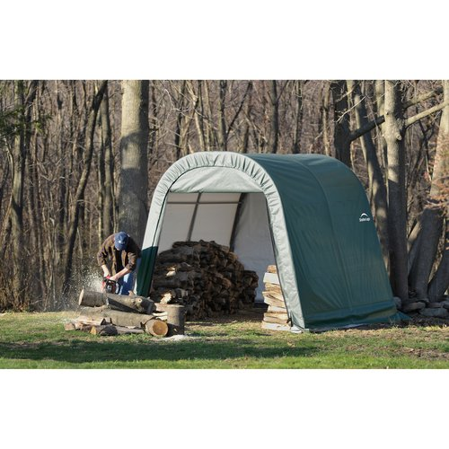 11' x 16' x 10' Round Style Shelter, Green