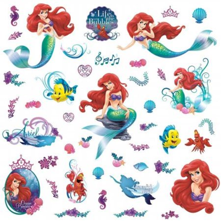 Room Mates RMK2347SCS The Little Mermaid Peel And Stick Wall Decals