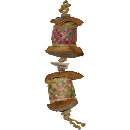 A&e Cage Company-Java Wood Surprise Drum Bird Toy- Assorted (Drum Bird Toy)