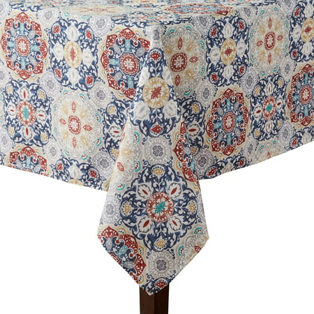 Mainstays Painted Tiles Tablecloth, 60