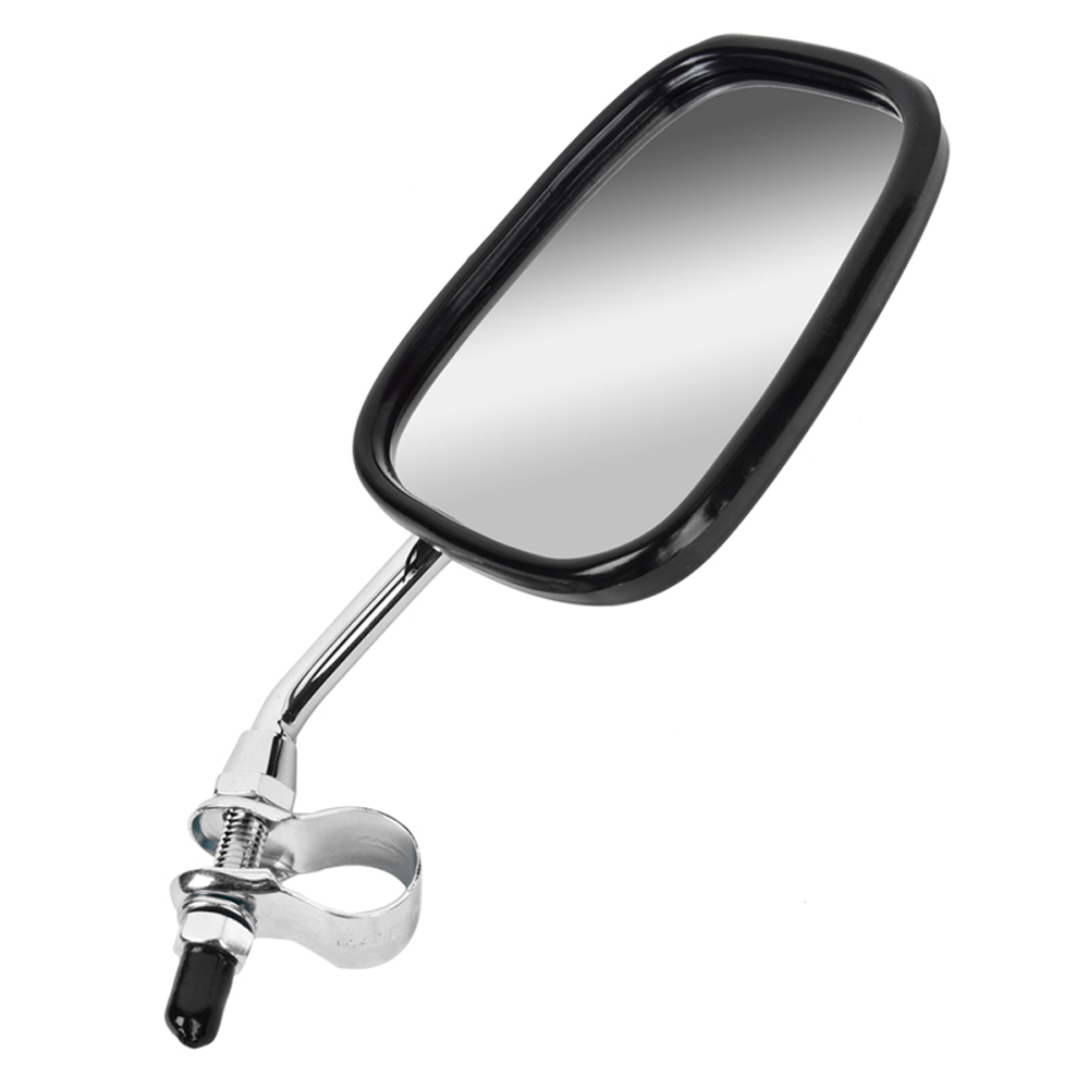 Sunlite Bicycle Deluxe Chrome Safety Rear Mirror & Reflector w/ Handlebar Mount